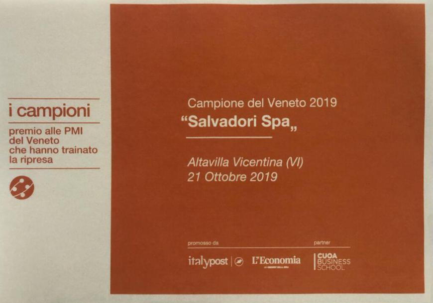 """Salvadori Spa """"2019 Veneto Champion"""""""